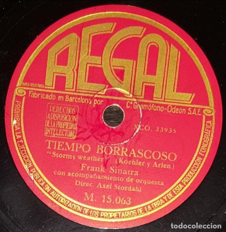 Discos de pizarra: DISCO 78 RPM - REGAL - FRANK SINATRA - ORQUESTA - OL´ MAN RIVER / STORMY WEATHER - RARO - PIZARRA - Foto 2 - 147149982