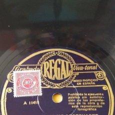 Discos de pizarra: DISCO 78 RPM - REGAL - ORQUESTA CALIFORNIA RAMBLERS - EL MANISERO - ORQUESTA JACK PAYNE - PIZARRA. Lote 147151862