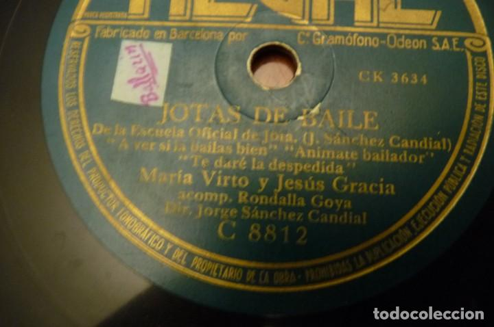 JOTAS DE BAILE.- MARIA DEL PILAR DE LAS HERAS - MARIA VIRTO-JESUS GARCIA-ANTONIO ROYO.REGAL - (Música - Discos - Pizarra - Flamenco, Canción española y Cuplé)