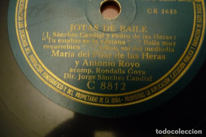 Discos de pizarra: JOTAS DE BAILE.- MARIA DEL PILAR DE LAS HERAS - MARIA VIRTO-JESUS GARCIA-ANTONIO ROYO.REGAL - - Foto 2 - 147201982
