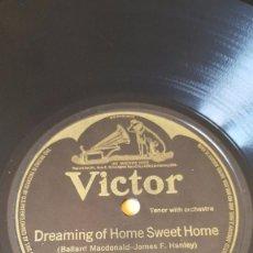 Discos de pizarra: DISCO 78 RPM - VICTOR - CHARLES HARRISON - TENOR - HART & SHAW DUO - ORQUESTA - PIZARRA. Lote 147281162