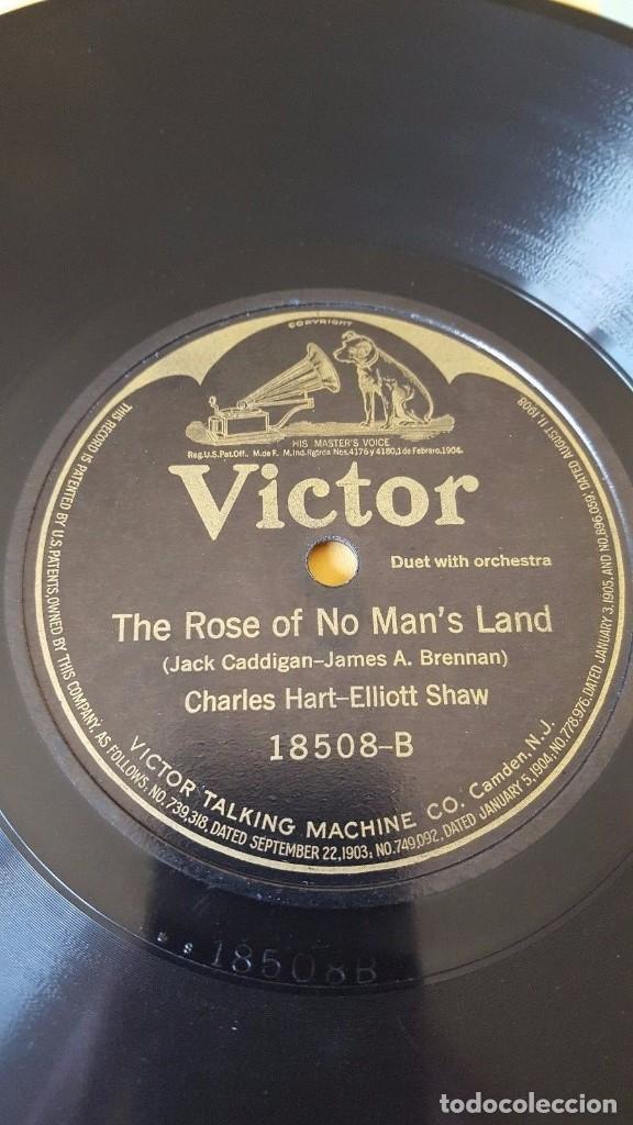 Discos de pizarra: DISCO 78 RPM - VICTOR - CHARLES HARRISON - TENOR - HART & SHAW DUO - ORQUESTA - PIZARRA - Foto 2 - 147281162