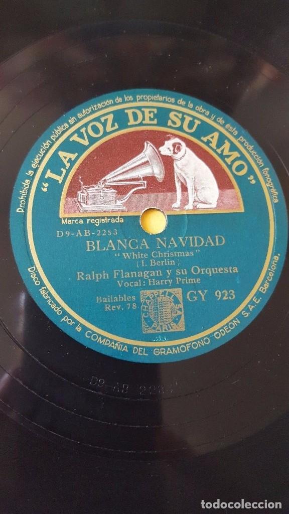 DISCO 78 RPM - VSA - RALPH FLANAGAN - ORQUESTA - HARRY PRIME - BLANCA NAVIDAD - I. BERLIN - PIZARRA (Música - Discos - Pizarra - Jazz, Blues, R&B, Soul y Gospel)