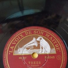 Discos de pizarra: DISCO 78 RPM - VSM - PAUL ROBESON - ORQUESTA - TREES - SONGS MY MOTHER TAUGHT ME - DVORAK - PIZARRA. Lote 147283118