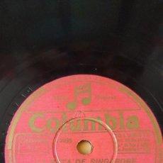 Discos de pizarra: DISCO 78 RPM - COLUMBIA - BING CROSBY - ORQUESTA - FILM - LA RUTA DE SINGAPORE - PIZARRA. Lote 147285486