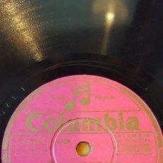 Discos de pizarra: DISCO 78 RPM - COLUMBIA - BING CROSBY - JOHN S TROTTER - ORQUESTA - TE PROMETO - MAS Y MAS - PIZARRA. Lote 147288430