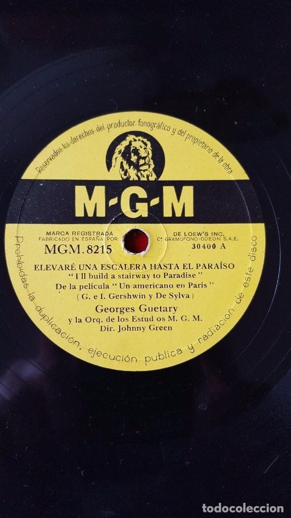 DISCO 78 RPM - MGM - GENE KELLY - GEORGES GUETARY - UN AMERICANO EN PARIS - FILM - PIZARRA (Música - Discos - Pizarra - Solistas Melódicos y Bailables)