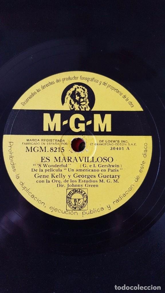 Discos de pizarra: DISCO 78 RPM - MGM - GENE KELLY - GEORGES GUETARY - UN AMERICANO EN PARIS - FILM - PIZARRA - Foto 2 - 147290294