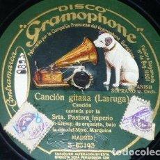 Discos de pizarra - DISCO 78 RPM - GRAMOPHONE - PASTORA IMPERIO - LA PENA PENA - CANCION GITANA - PIZARRA - 147291802