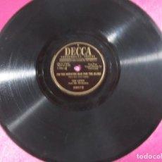 Discos de pizarra: THE OLD ST LOUIS BLUES FOX TROT DISCO PIZARRA DECCA. Lote 147309506