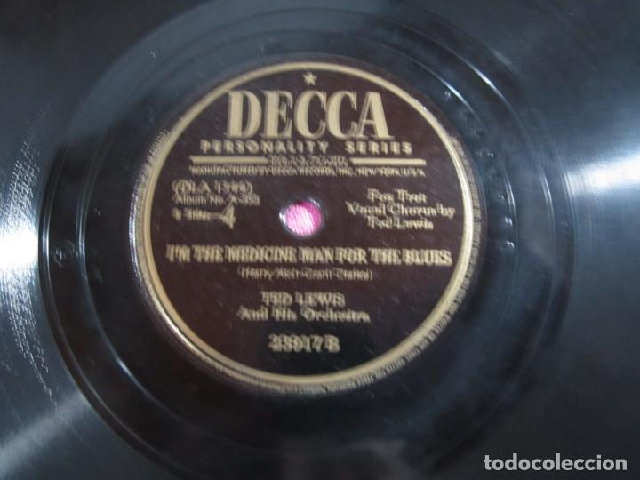 Discos de pizarra: THE OLD ST LOUIS BLUES FOX TROT DISCO PIZARRA DECCA - Foto 3 - 147309506