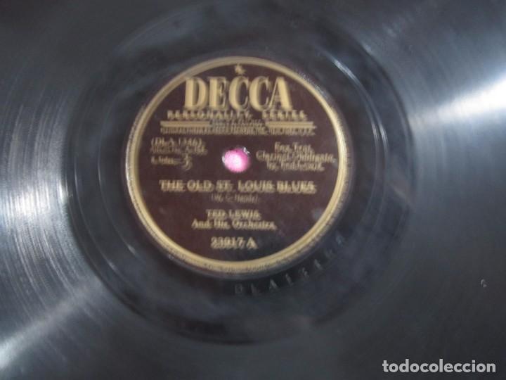Discos de pizarra: THE OLD ST LOUIS BLUES FOX TROT DISCO PIZARRA DECCA - Foto 4 - 147309506