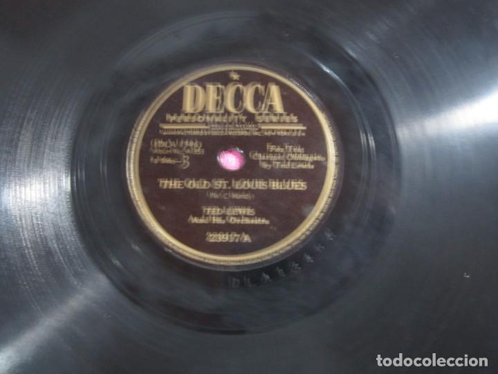 Discos de pizarra: THE OLD ST LOUIS BLUES FOX TROT DISCO PIZARRA DECCA - Foto 5 - 147309506
