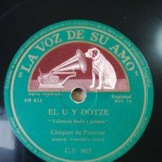 Discos de pizarra: DISCO DE PIZARRA - CHIQUET DE PATERNA Y JACINTA BARTOLOMÉ. Lote 147331598