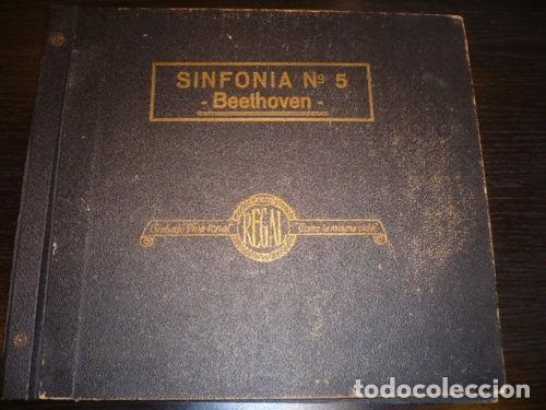 ALBUM + 4 DISCOS 78 RPM - REGAL - BEETHOVEN - REAL ORQUESTA FILARMONICA DE LONDRES - PIZARRA (Música - Discos - Pizarra - Clásica, Ópera, Zarzuela y Marchas)