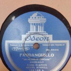 Discos de pizarra: ANGELILLO-UN PAJARILLO CANTABA-MUY BUEN ESTADO. Lote 147484310