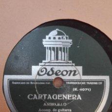 Discos de pizarra: ANGELILLO-CARTAGENERA.MUY BUEN ESTADO. Lote 147485826