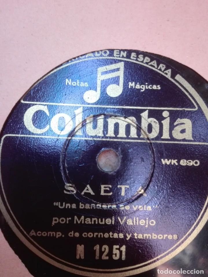 Discos de pizarra: MANUEL VALLEJO-MARIA TO NO CONOCES-MUY BUEN ESTADO - Foto 2 - 147488042