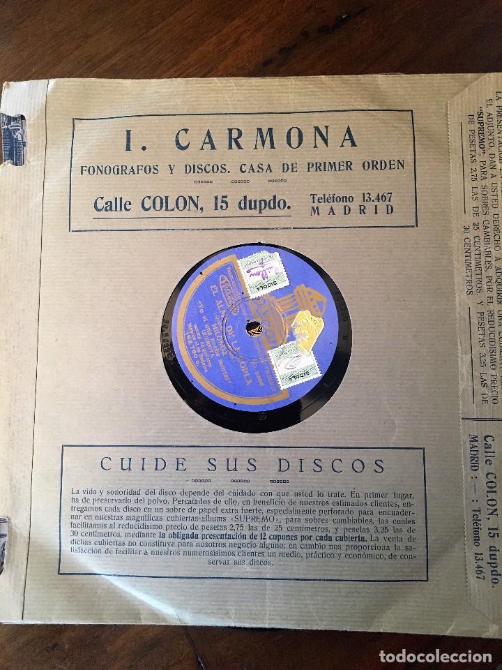 Discos de pizarra: Dos Discos pizarra 78 rpm EL ALMA DE LA COPLA, Guerrita y Pena(hijo) (revisar canciones) - Foto 4 - 147606294