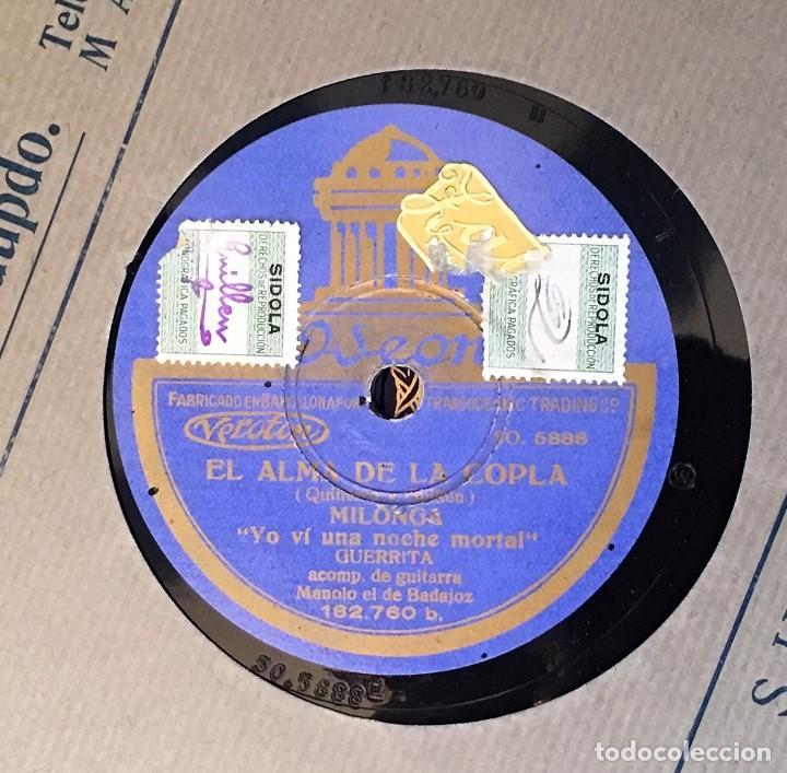 Discos de pizarra: Dos Discos pizarra 78 rpm EL ALMA DE LA COPLA, Guerrita y Pena(hijo) (revisar canciones) - Foto 3 - 147606294