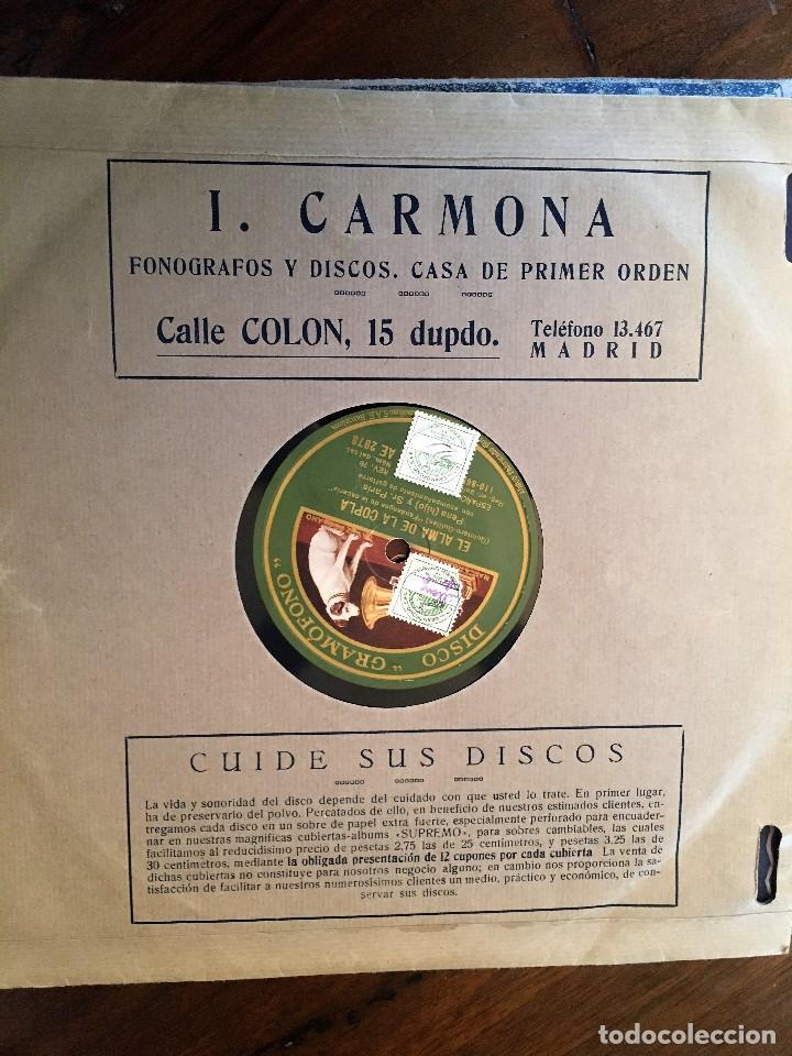 Discos de pizarra: Dos Discos pizarra 78 rpm EL ALMA DE LA COPLA, Guerrita y Pena(hijo) (revisar canciones) - Foto 2 - 147606294