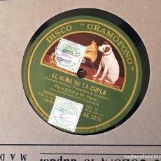 Discos de pizarra: DOS DISCOS PIZARRA 78 RPM EL ALMA DE LA COPLA, GUERRITA Y PENA(HIJO) (REVISAR CANCIONES). Lote 147606294