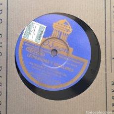 Discos de pizarra: DISCO PIZARRA 78 RPM BANDA DE INGENIEROS, PASODOBLES CON CORNETAS: LEGIONARIOS Y REGULARES, FAGINA. Lote 147626734