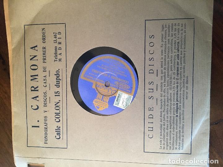 Discos de pizarra: Disco pizarra 78 rpm Banda de Ingenieros, Pasodobles con cornetas: Legionarios y Regulares, Fagina - Foto 2 - 147626734