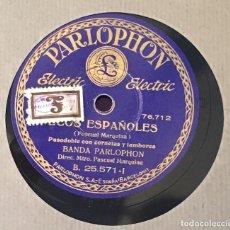 Discos de pizarra: 4 DISCOS PIZARRA 78 RPM ECOS ESPAÑOLES, CAPOTE TORERO, FANDANGOS, JOTAS ARAGONESAS (VER CANCIONES). Lote 147628222
