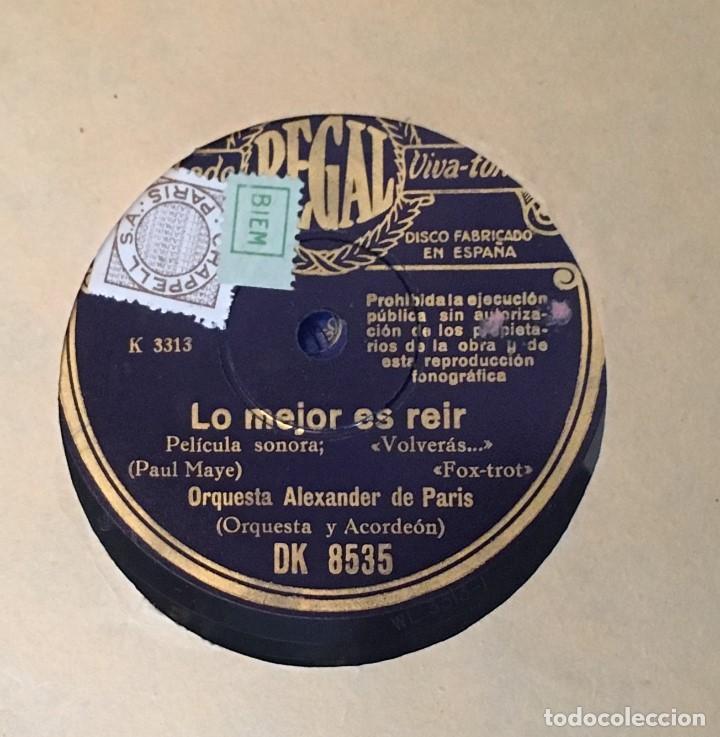Discos de pizarra: Disco pizarra 78 rpm Pelicula Sonora Volveras... Paul Maye y Vals Adriana (ver canciones) - Foto 2 - 147629374