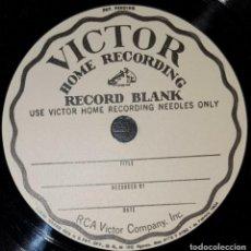 Discos de pizarra: DISCO 78 RPM - VICTOR 18 CM - BLANK RECORD - RARE - PIZARRA. Lote 147833798