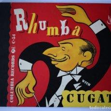 Discos de pizarra: RHUMBA WITH CUGAT COLUMBIA ALBUM SET C-54 3 DISCOS PIZARRA AÑOS 40 + 1 DE REGALO. Lote 147933998
