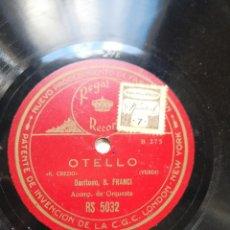 Discos de pizarra: LOTE DE 8 DISCOS . Lote 148018254