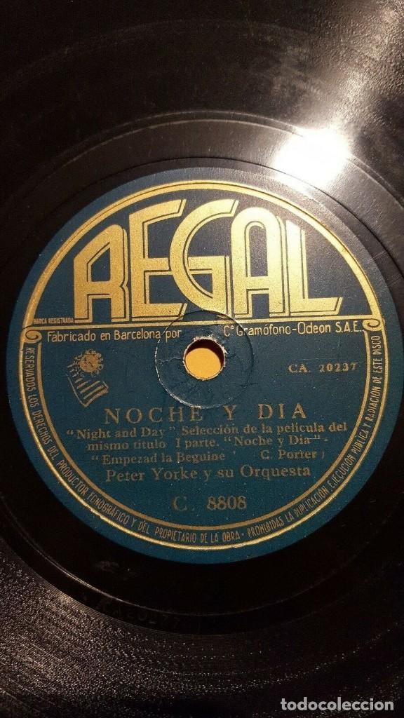 DISCO 78 RPM - REGAL - PETER YORKE - ORQUESTA - FILM - NOCHE Y DIA - PORTER - PIZARRA (Música - Discos - Pizarra - Bandas Sonoras y Actores )