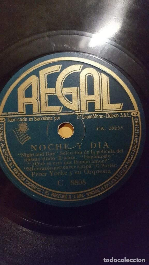 Discos de pizarra: DISCO 78 RPM - REGAL - PETER YORKE - ORQUESTA - FILM - NOCHE Y DIA - PORTER - PIZARRA - Foto 2 - 148061450