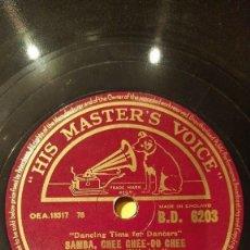 Discos de pizarra: DISCO 78 RPM - HMV - JOE LOSS - ORQUESTA - CHEE CHEE-OO CHEE - SAMBA - BRITISH MUSIC - PIZARRA. Lote 148064414