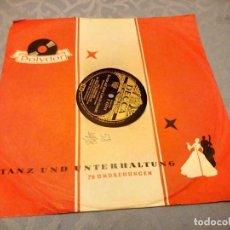 Discos de pizarra: VICO TORRIANI BELLA, BELLA DONNA / ES WAR AUF DEM CANALE GRANDE.1953. Lote 148116342