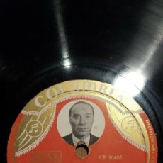 Discos de pizarra: DISCO 78 RPM - COLUMBIA PHOTO LABEL - COBLA BARCELONA - JOSE COLL - SARDANA - CATALUÑA - PIZARRA. Lote 148138978