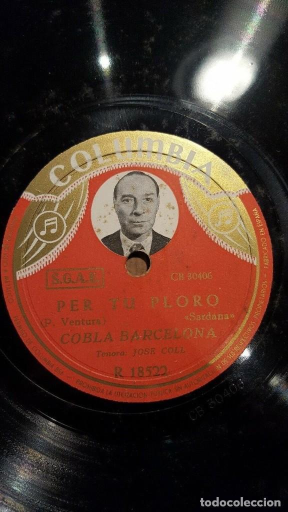 Discos de pizarra: DISCO 78 RPM - COLUMBIA PHOTO LABEL - COBLA BARCELONA - JOSE COLL - SARDANA - CATALUÑA - PIZARRA - Foto 2 - 148138978