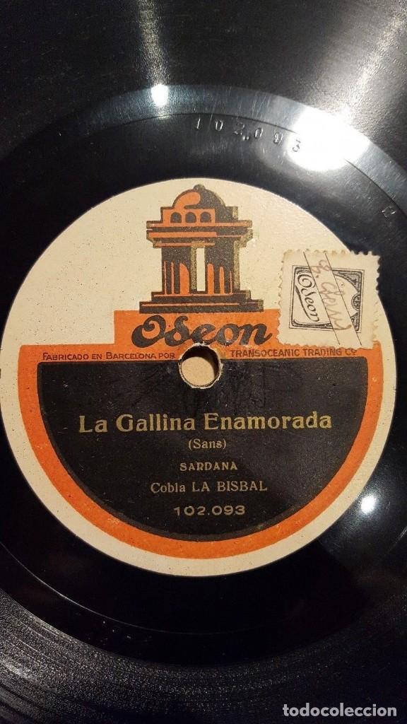 DISCO 78 RPM - ODEON - COBLA LA BISBAL - SARDANA - LA GALLINA ENAMORADA - CATALUÑA - PIZARRA (Música - Discos - Pizarra - Flamenco, Canción española y Cuplé)