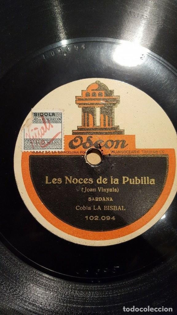 Discos de pizarra: DISCO 78 RPM - ODEON - COBLA LA BISBAL - SARDANA - LA GALLINA ENAMORADA - CATALUÑA - PIZARRA - Foto 2 - 148145422