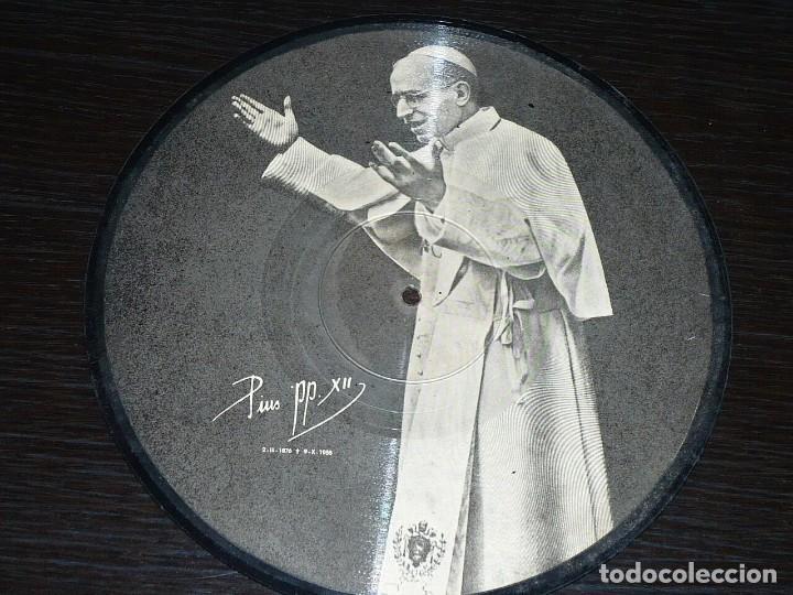 DISCO 78 RPM - 1958 PICTURE - POPE PIO XII - CATOLICO - PLEGARIA - REY CIELOS - ARGENTINA - PIZARRA (Música - Discos - Pizarra - Otros estilos)