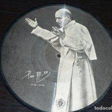 Discos de pizarra: DISCO 78 RPM - 1958 PICTURE - POPE PIO XII - CATOLICO - PLEGARIA - REY CIELOS - ARGENTINA - PIZARRA. Lote 148148502