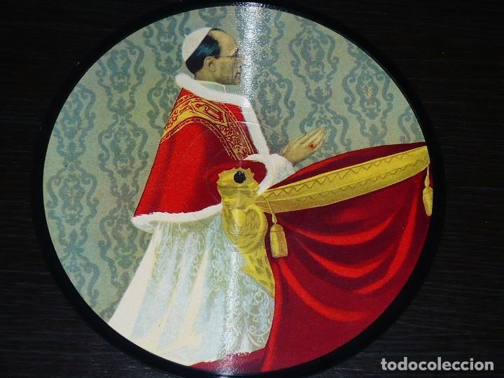DISCO 78 RPM - PICTURE PAPA PIO XII - FRANCIA - ANNO 1950 SANCTO - RARO - ROMA - PIZARRA (Música - Discos - Pizarra - Otros estilos)
