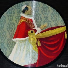 Discos de pizarra: DISCO 78 RPM - PICTURE PAPA PIO XII - FRANCIA - ANNO 1950 SANCTO - RARO - ROMA - PIZARRA. Lote 148154854