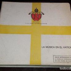 Discos de pizarra: ALBUM 12 PULGADAS + DISCOS 78 RPM - GRAMOFONO - SEMS EDICION DE MUSICA SACRA - VATICANO - PIZARRA. Lote 148158642