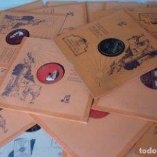 Discos de pizarra: 21 DISCOS DE PIZARRA VARIOS ESTILOS VER FOTOS. Lote 148290750