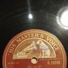 Discos de pizarra: DISCO 78 RPM - HMV - MAX BYGRAVES - PETER BROUGH - ARCHIE ANDREWS - VENTRILOCUO - COMICO - PIZARRA. Lote 148891486