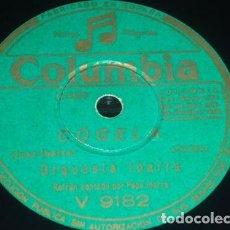 Discos de pizarra: DISCO 78 RPM - COLUMBIA - ORQUESTA IBARRA - PEPE IBARRA - SON - RUMBA - ESPAÑA - PIZARRA. Lote 148900566