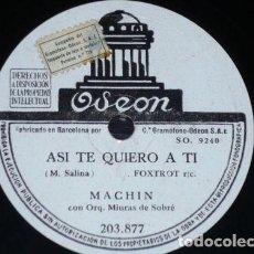 Discos de pizarra: DISCOS 78 RPM - ODEON - ANTONIO MACHIN - ORQUESTA MIURAS DE SOBRE - NOCHE TRISTE - PIZARRA. Lote 148907566